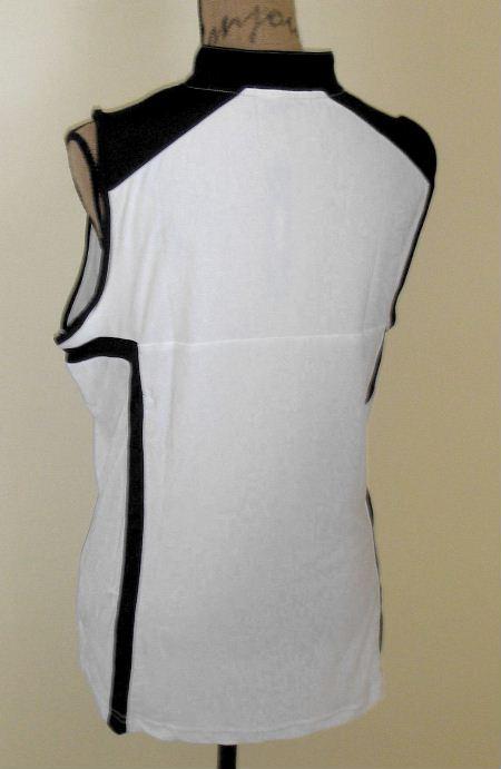 DKNY by Jamie Sadock Sleeveless Pure White Golf Shirt Top x Large